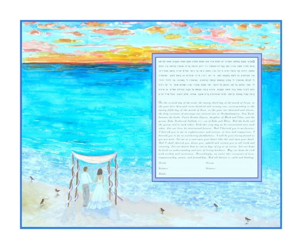 Beach-Ketubah-Print-Bride-Groom