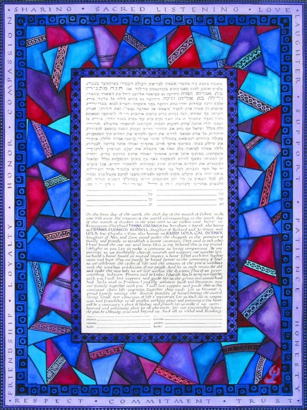 Blue Glass Ketubah