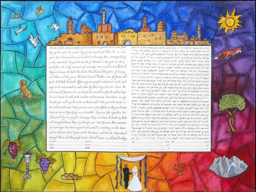 Butterfly-Stained-Glass-Ketubah