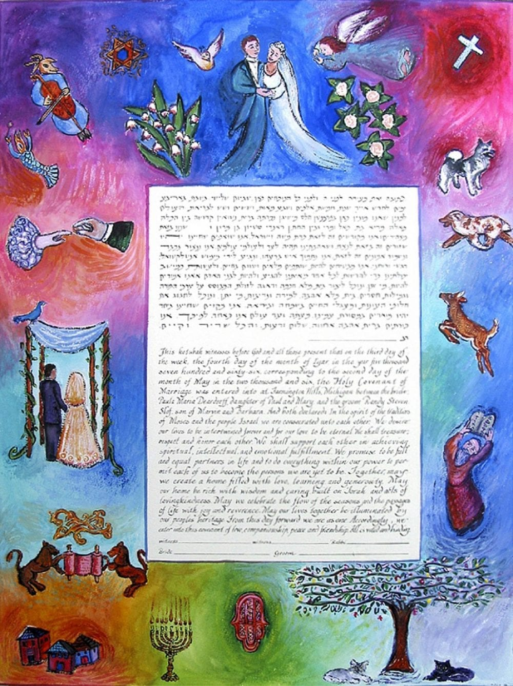Interfaith-Dogs-and-Cats-Ketubah