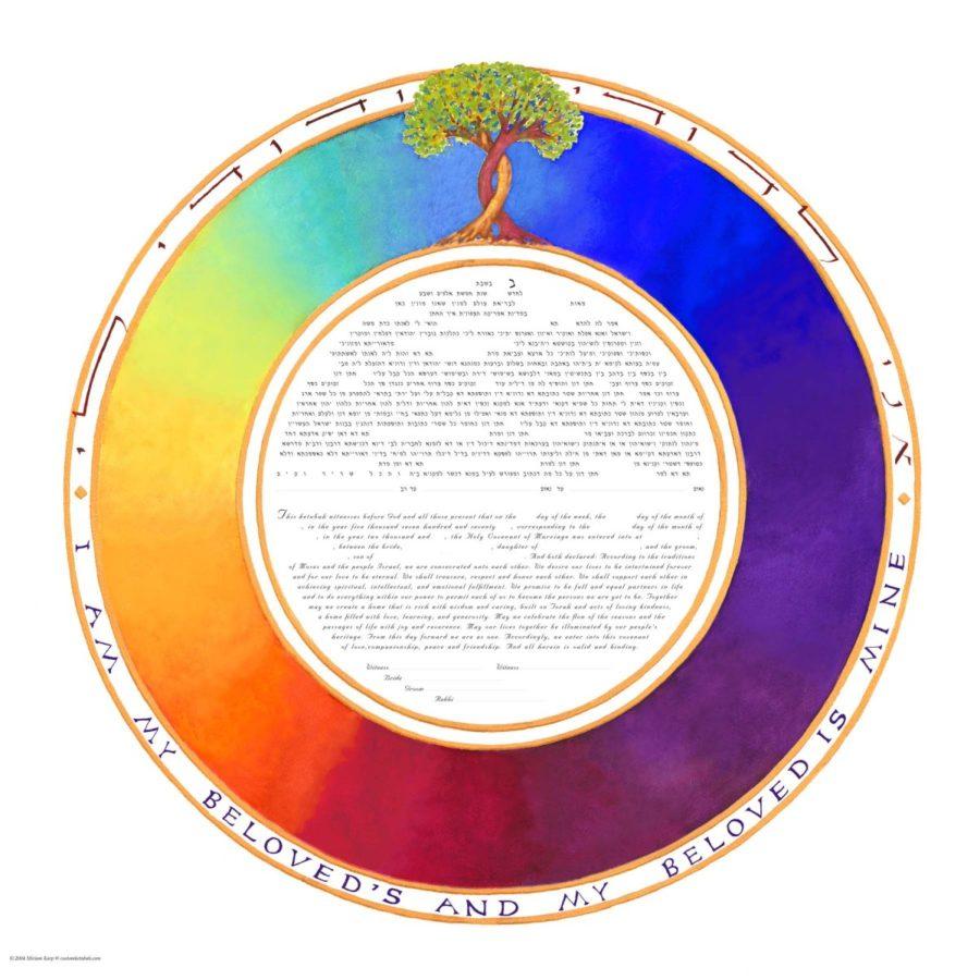 Rainbow-Ketubah-Print-Tree