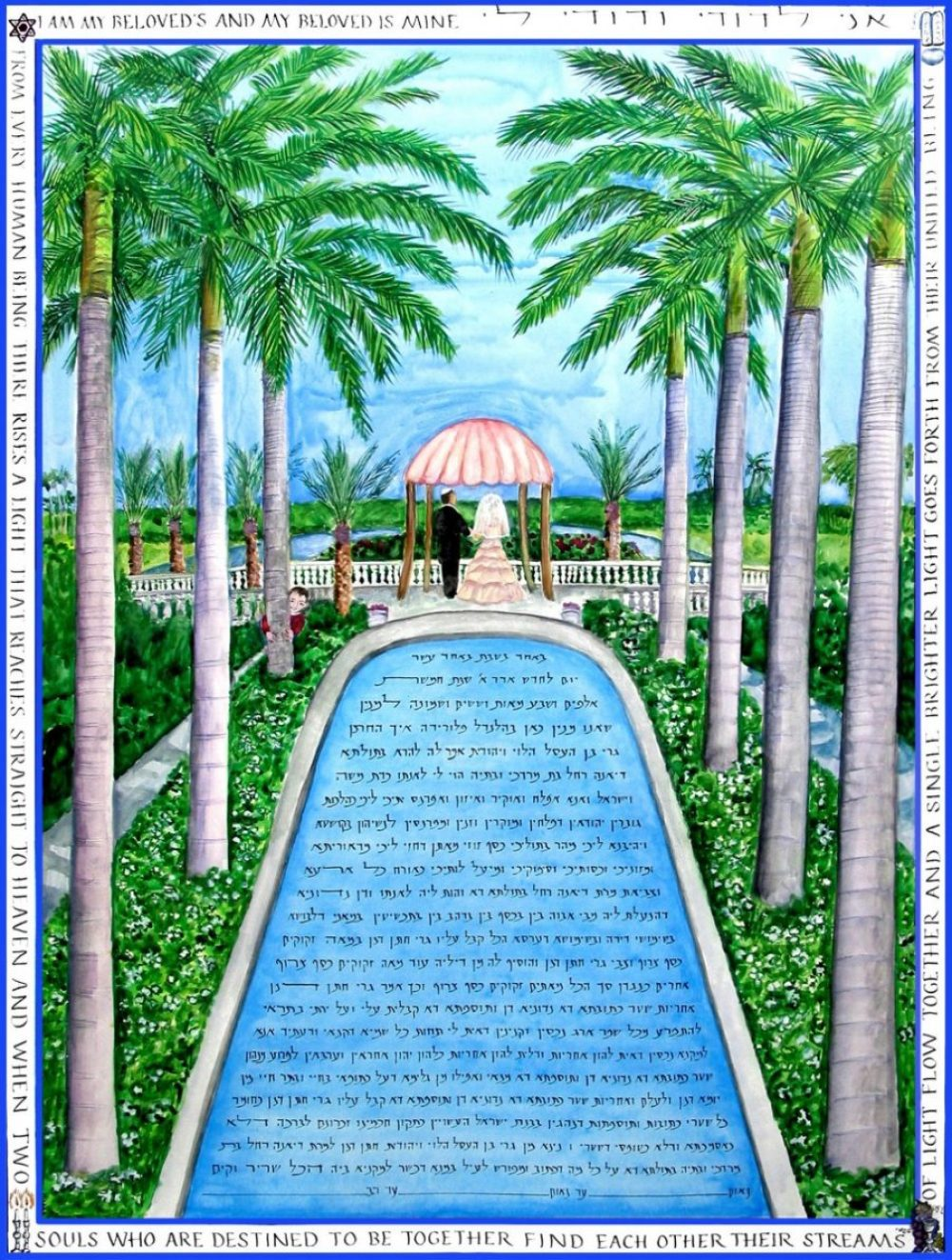 Royal-Palms-Ketubah