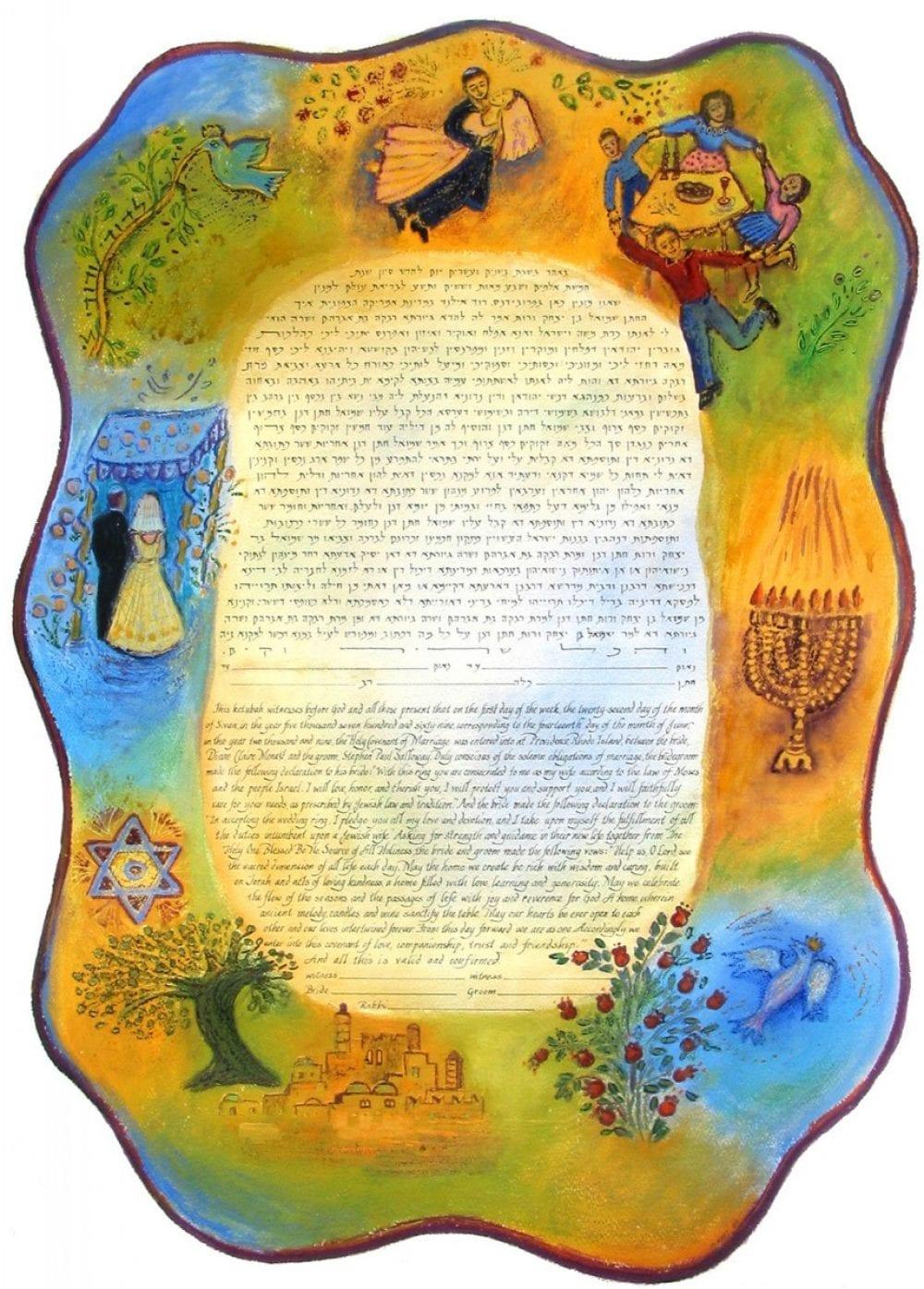 Shabbat-Chagall 2-Ketubah