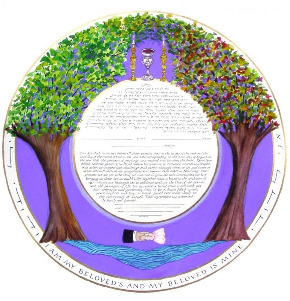Shabbat-Circle-Ketubah