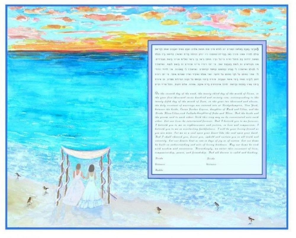 Beach-Ketubah-Print-2-Brides