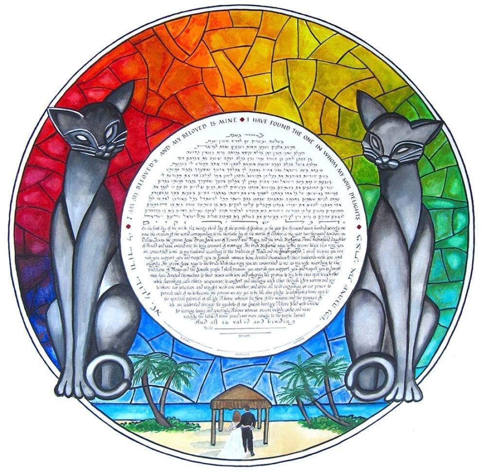 2-cats-ketubah