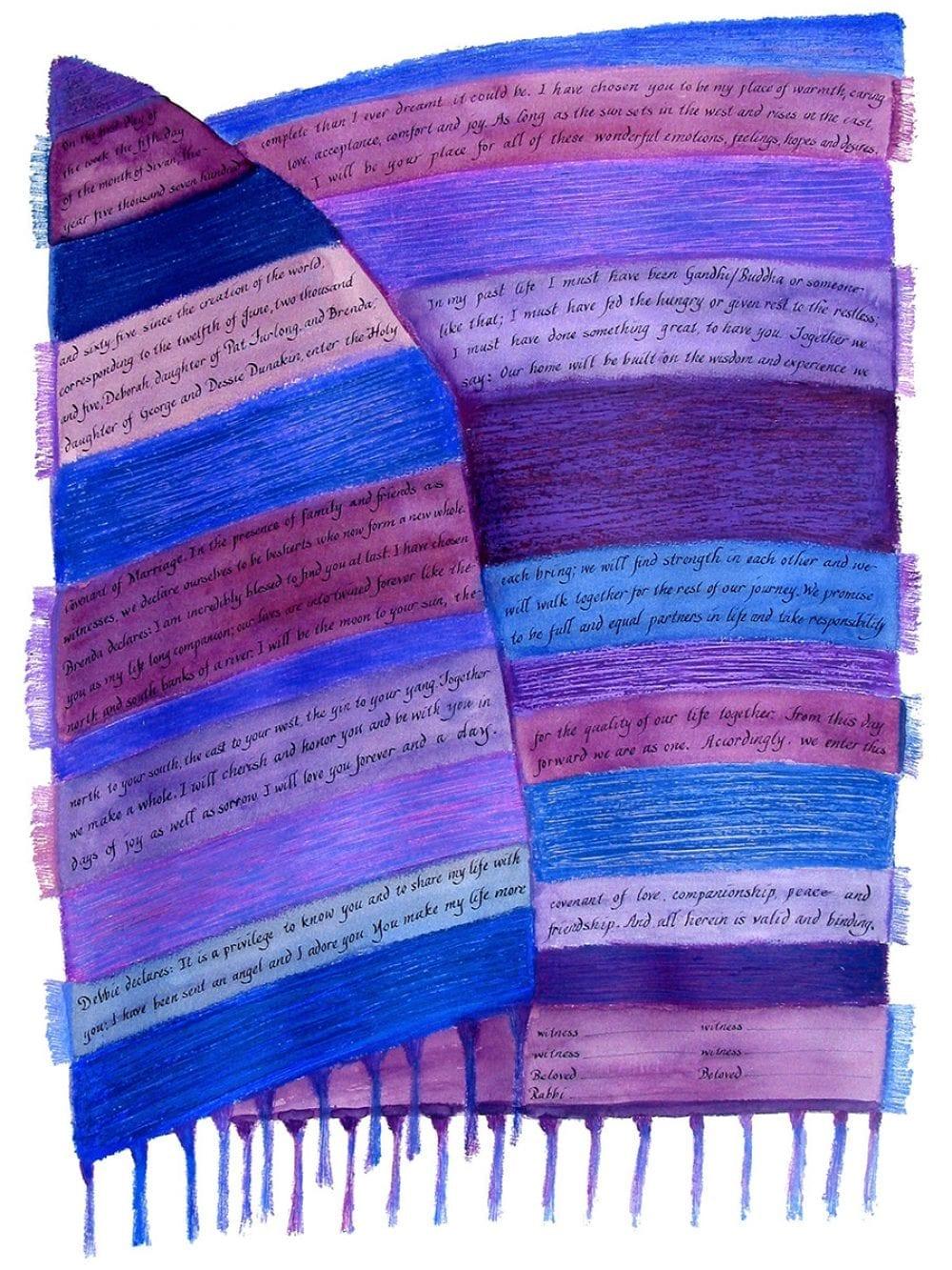 2-sided-blues-tallit-weaving-ketubah