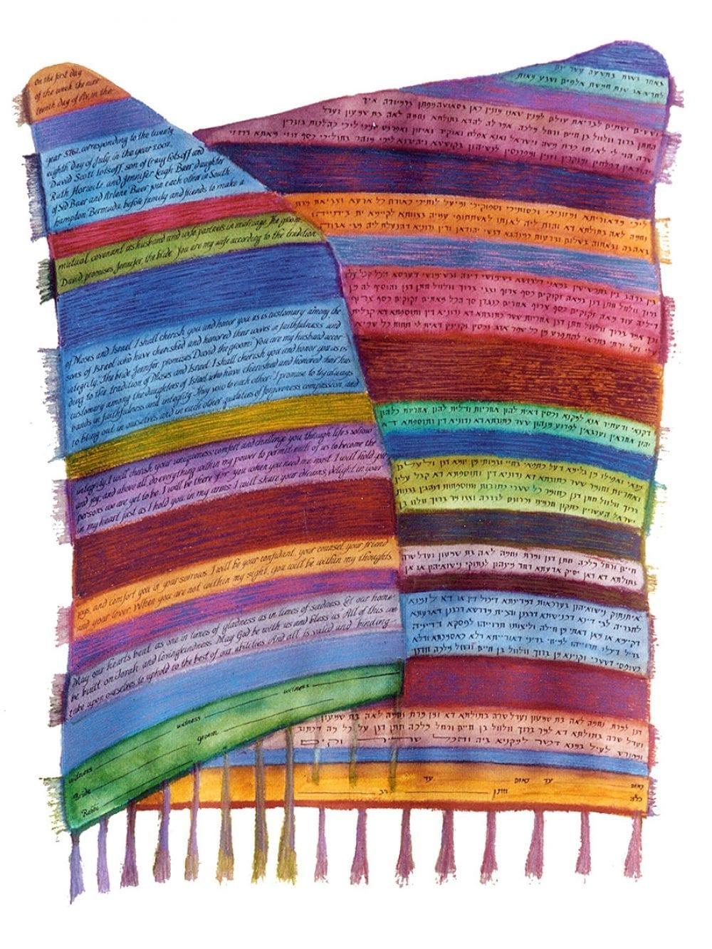 2-sided-variegated-tallit-weaving-ketubah