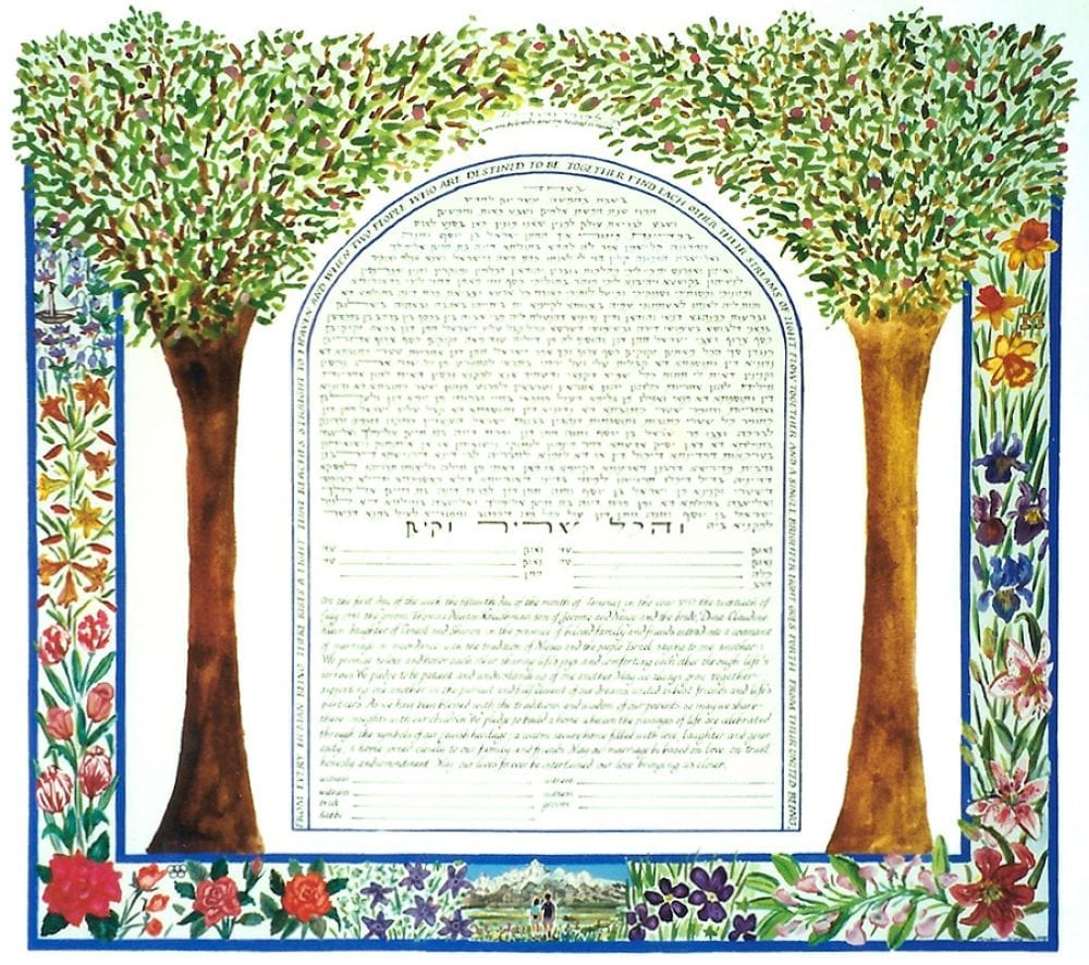 2-trees-hikers-ketubah