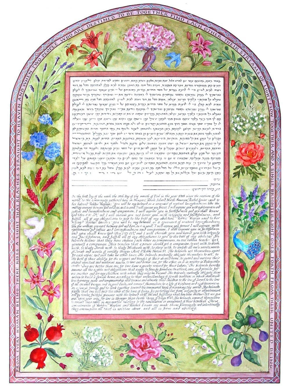 budding-flowers-ketubah