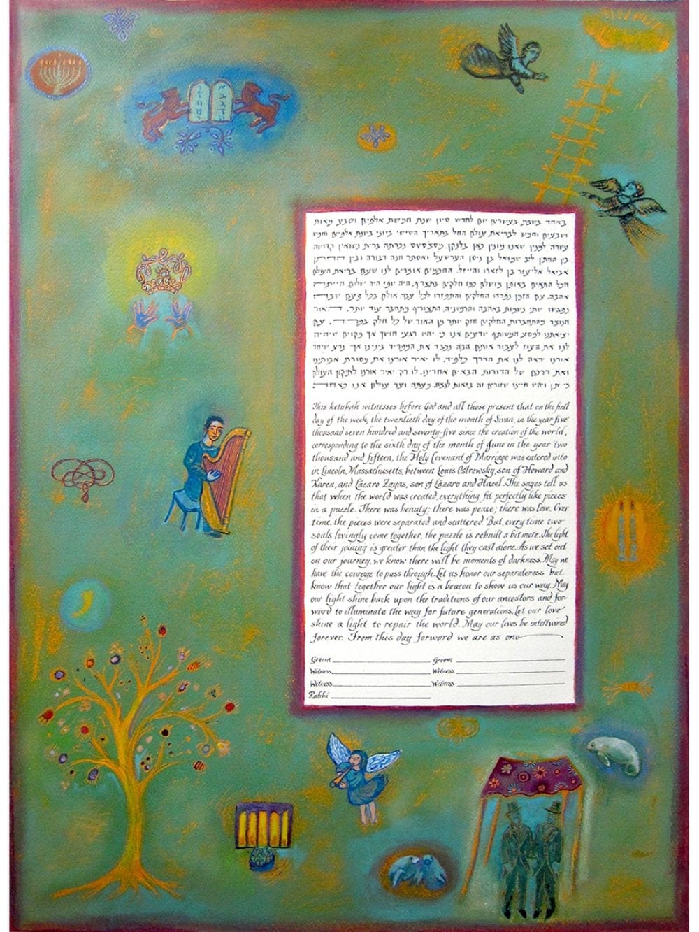 chagall-manatee-ketubah