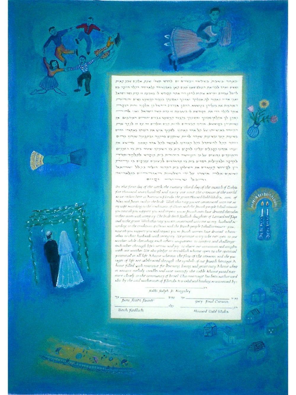 chagall-shtetl-ketubah