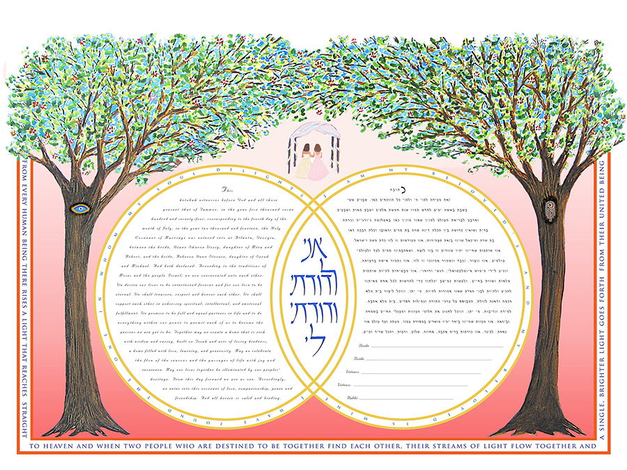 Double-Ring-Ketubah-Print-Dawn