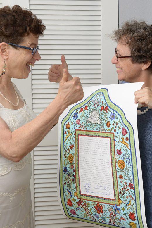 Marian-Ruth-Ketubah-Signing