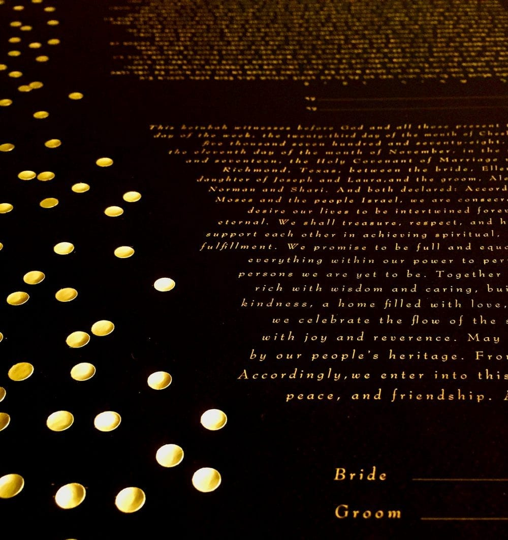 gold-dot-ketubah-detail