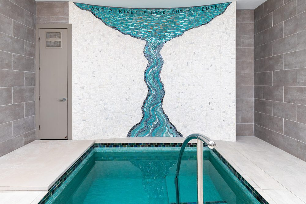 Mosaic for Mikvah room view